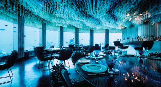 restaurante bajo el agua, restaurante Niyama, hotel Niyama Maldivas